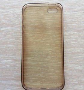 Силиконовый чехол на IPhone 5/5s б/у.