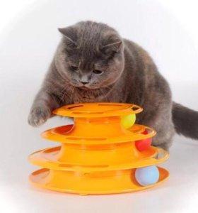 Игрушки для котов.Пирамида с шариками👍🏼😊