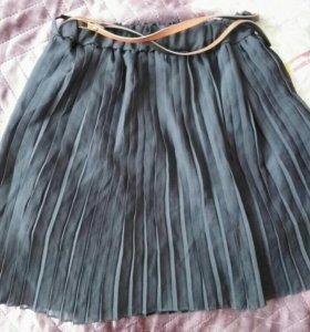 Летняя юбка-плессировка.