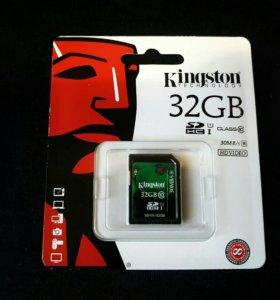 Карта памяти sdhc 32 гб Kingston Ultimate 30Mb/s