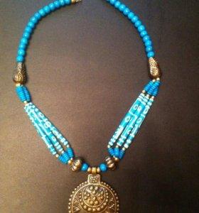 Украшение колье ожерелье бижутерия