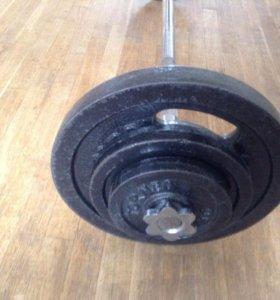 Штанга 55 кг Torneo