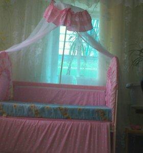 Кроватка+матрас ортопедический