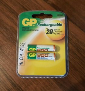 Аккумуляторы GP AAA 950 мАч
