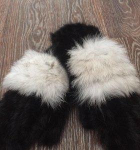 Норковые рукавички