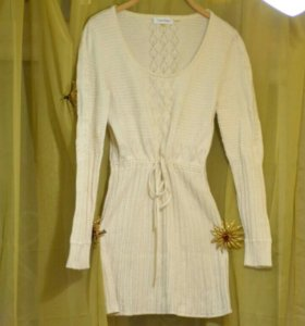 Шерстяное платье-тупика Calvin Klein
