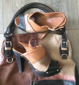 Комплект из сумки и босоножек