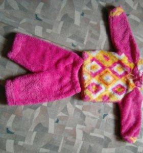 Детский костюм теплый на девочку 1годик