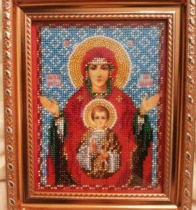Икона бисером Знамение
