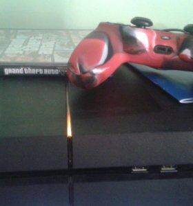 PS4 500gb+чехол на джойстик+GTA5 и NFS 2015+акк с