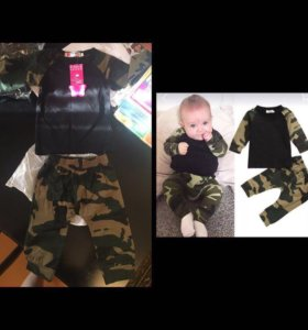 Новый комплект одежды на малыша 4-6 месяцев.