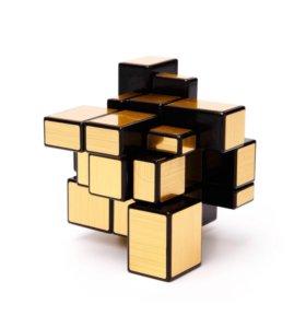 Кубик рубик золотой сувенир подарок