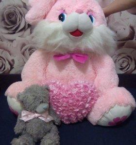 Плюшевый мишка и зайка