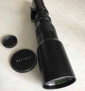 Сверхдлиннофокусный объектив danubia 500 mm f/8