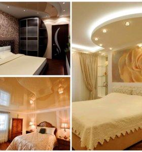 Потолок в спальне натяжные потолки