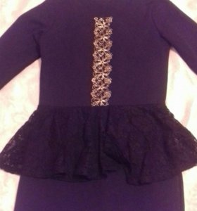 Платье черное длиное
