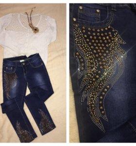 Кофточка джинсы