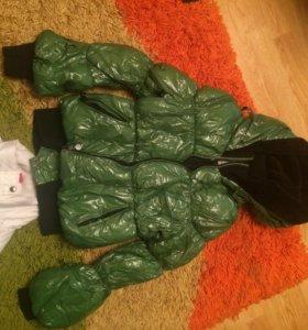 Куртка новая,утепленная.За 1500 2 куртки + moncler