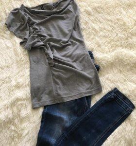 Джинсы + блузка