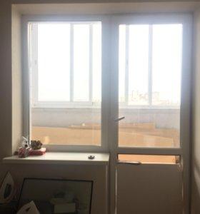 Окно Пвх на лоджию с дверью