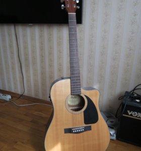 Электроакустическая гитара Fender cd-60ce