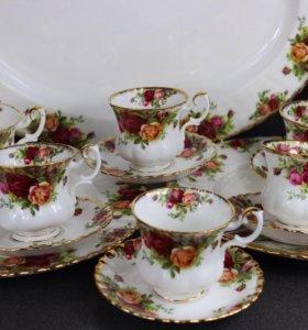 Винтажный кофейный сервиз, Royal Albert Англия