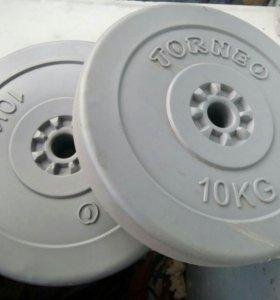 Блины torneo в пластиковом корпусе 10 кг