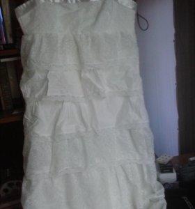 Платье на высокую девушку.