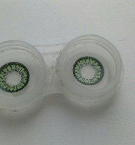 Линзы зелёные
