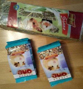 Корм для морской свинки + сено