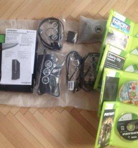 Xbox 360 500гб + 9 игр.