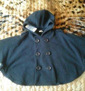 Пальто-пончо детское новое