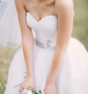 Шикарное свадебное платье+туфли!