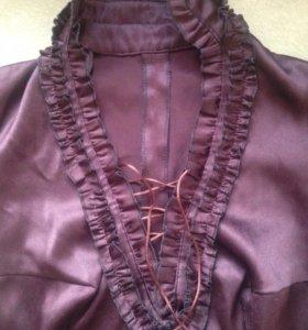 Блуза со стойкой