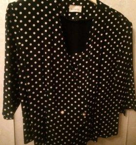 Продаю блузку в горошек USA размер 48-52