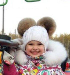 Зимняя шапка 2-5 лет