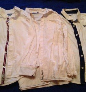 Школьный белые рубашки( пакетом)