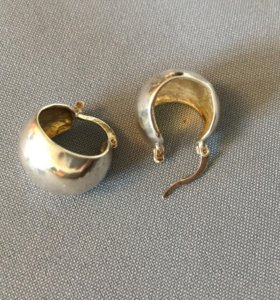 Сережки серебро и кулон