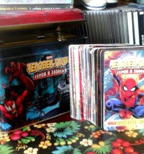 """Карточки """"Человек-паук"""" в шкатулке для хранения"""