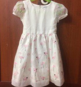 Платье с фламинго happy girls