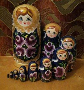 Матрешка 10 кукол, 26 см.
