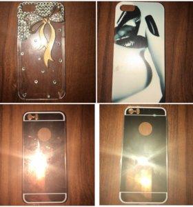 Накладки, бампера, защитные стекла на Айфон 5s