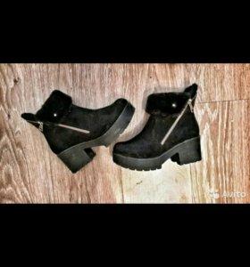Ботинки зимние, замша, 36 размер