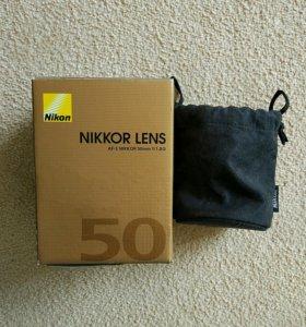 Объектив Nikon 50 mm f/1.8 G AF-S Nikkor