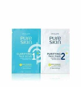 Скраб и очищающая маска для лица Pure Skin