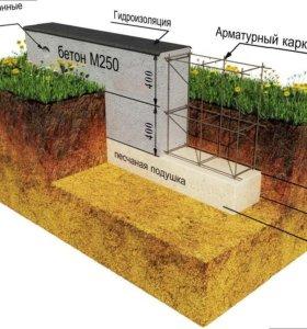 Фундаменты, бетонные работы, строительство