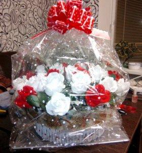 Букеты цветов с конфетами !!!!