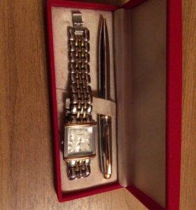Мужской комплект Часы и ручка