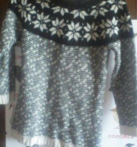 Зимний теплый свитер