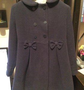 Пальто демисезонное 7-8 лет